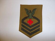 13033s WW2 US Navy USMC Chief Petty Off Pharmacist's Mate Rate Tan single R6C