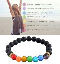Bracelet Jewelry Healing Beaded Bracelet Natural Lava Stone Diffuser 7 Chakra