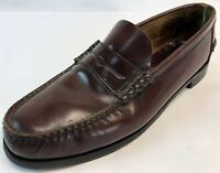 Mens Florsheim Oxblood Leather Slip On Penny Loafers Casual Dress Shoes Size 10