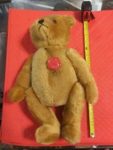 "Hermann Teddy Original Bear, 16"", Mint, Made in West Germany plus bonus"