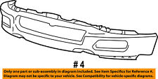 FORD OEM 04-05 F-150-Bumper 4L3Z17757AA