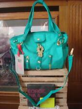 NWT~ GEORGE GINA & LUCY FRESH & FROH~ GREEN NYLON CANVAS SATCHEL SHOULDER STRAP