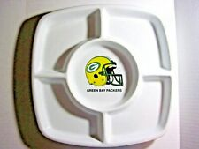 RARE...NEW Green Bay Packers Ceramic Snack Plate / Dish 10""
