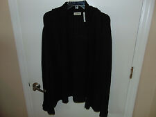 Ladies black open front Shrug Sweater Cardigan size XL