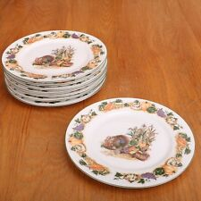 8 Salad Plates Holiday Turkey by American Atelier Thanksgiving China