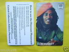 cartes telephone 1997 phone cards 100 units bob marley reggae rare telefonkarten