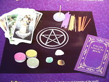 SEALED NEW! PAGAN MAGICAL KIT TAROT BK CANDLES CLOTH INCENSE GEMS  OUT OF PRINT