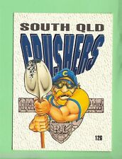1995  SOUTH QUEENSLAND CRUSHERS  RUGBY LEAGUE TEAM MASCOT CARD