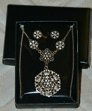 Avon Fancy Filigree Necklace and Earrings Gift Set