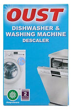 OUST DISHWASHER & WASHING MACHINE DESCALER 2 SACHETS. GREAT VALUE
