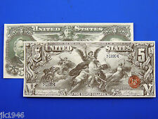 Reproduction $5 1896 Silver US Paper Money Currency Copy