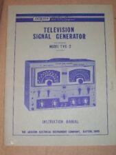 Jackson Television TV Signal Generator Manual~TVG-2