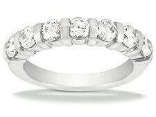 7 Round Diamond Band 14k White Gold Anniversary Ring 0.12 ct each F VS 0.84 tcw