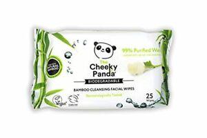 Cheeky Panda Biodegradable Bamboo Baby Wipes - Bamboo Facial Wipes, Pack Of 25