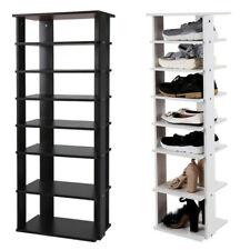 7-Tier Dual Shoe Rack Practical Free Standing Shelves Storage Shelves Concise Us