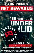 $8 Marlboro Rewards Codes,mail