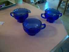 Mount Pleasant cobalt blue sugar,creamer and cup
