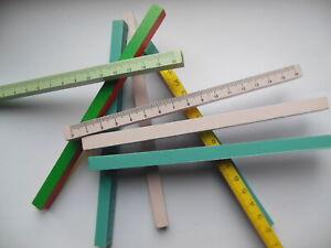 Lot de 9 régles   en bois  16 cm
