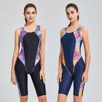 Women One Piece Swimsuit Sharkskin Sport Competition Swimwear Racing Suit
