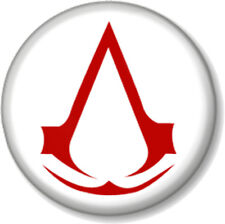 """Assassins Creed Symbol White 25mm 1"""" Pin Button Badge XBOX 360 PS3 Video Game"""