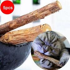 5X Pet Catnip Teeth Molar Cleaning Matatabi Silvervine Cat Chew Stick Toys