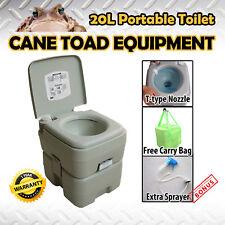 20L Portable Toilet Outdoor Camping Potty w Sprayer Carry Bag Caravan Camping