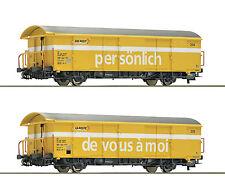 2 wagons postaux Z2 SBB Époque V et VI -ho-1/87-roco 67183