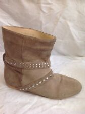 Bhs Brown Ankle Suede Boots Size 3