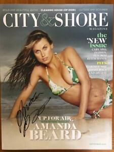 AMANDA BEARD Signed City  Shore Magazine Olympic Swimmer Full Autograph COA