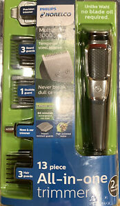 Philips Norelco Multigroom Trimmer 3000 All-in-one 13 Piece Beard Hair Clippers