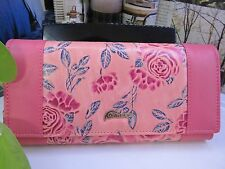 NEW - Pink Roses Lady Leather Wallet  with Tags