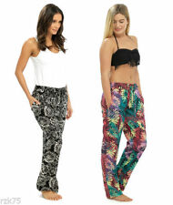 Loose Fit Floral Pants for Women