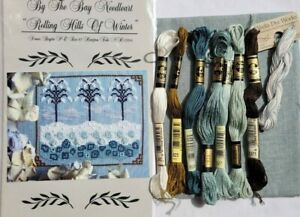 """By The Bay Needleart-""""ROLLING HILLS OF WINTER""""-Cross Stitch Kit w/linen,WDW, DMC"""