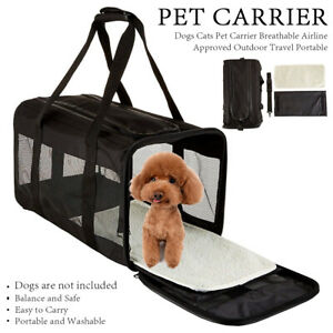 Outdoor Travel Portable Dogs Cats Pet Carrier Breathable Airline Approved