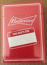 Beer Budweiser This Buds For You Deck Of Playing Cards Factory Sealed New Mint