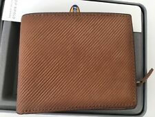 Fossil Regent L-zip Billfold Wallet Genuine Leather Camel New with Tags