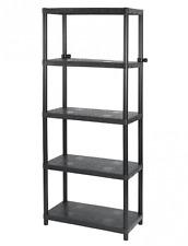 Keter 17187313 Plastic Shelving Unit With 5 Shelves Load 30 Kg/ma