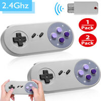 2.4GHZ Wireless Gamepad Controller for Super Nintendo SNES Classic Mini Console