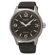 SEIKO MEN'S PRESAGE 41MM BLACK LEATHER BAND STEEL CASE AUTOMATIC WATCH SRPB07