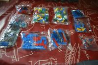LOT 10 SACHET MEGA BLOKS BRIQUE  NEUF LEGO BRICK PAQUET GAME NEUX