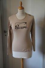 Original Tee shirt ML femme OHIRI motif ailes d'ange maori taille S beige neuf