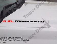 5.9L TURBO DIESEL Hood sticker decals emblem vinyl 4x4 fits: dodge cummins ram