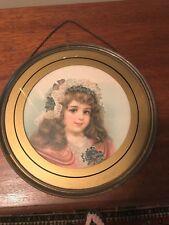 Pretty Victorian Girl Framed Flue/Chimney Cover