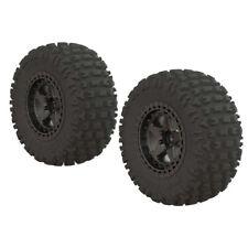 ARRMA ARA550087 Dboots Fortress SC Tire Set Glued Gun Metal Wheels (2) : Senton