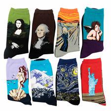 8 Pairs Famous World Painting Art Socks Mona Lisa The Scream Starry Night