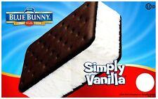 Ice Cream Truck Decal Sticker Blue Bunny Ice Cream Sandwich Simply Vanilla Ver 2