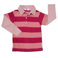 Girls Layered-Look Shirt with Collar Fuschia Stripe # 7 Size 10 years old