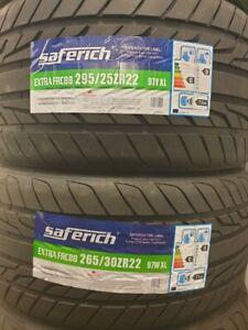 New Set Car Tyres Saferich FRC88 295/25 ZR22 265 30 ZR22 295 25 22 265 30 22