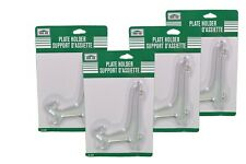 Lot of 4 Clear Plastic Decorative Plate Holders Display Stand Easels