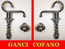 2 Ganci cofano per Ferrari-Maserati-Osca-Abarth e barchette varie - hood hooks